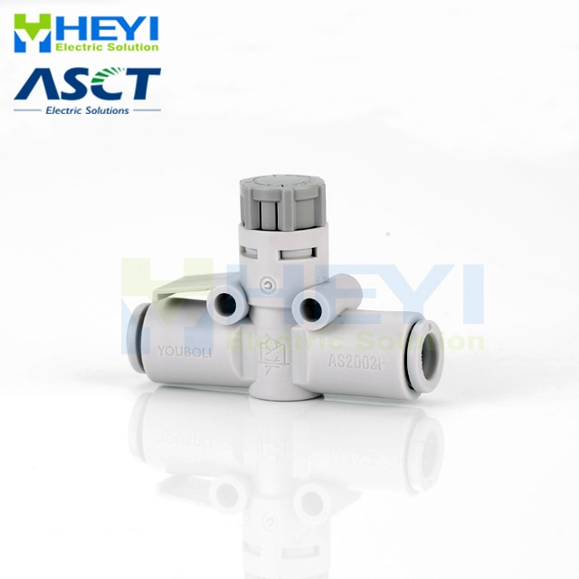 5 unids/bolsa Válvula de acelerador neumática como OD 6-12mm Válvula de Control de velocidad de flujo de aire tubo manguera de aire neumática accesorios de presión, accesorios