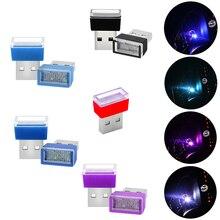 Lampe de décoration Mini USB   2 pièces pour Kia Ceed Rio 3 4, lumière dambiance de voiture, Honda Civic Fit Crv Accord City Nc750x Jaz