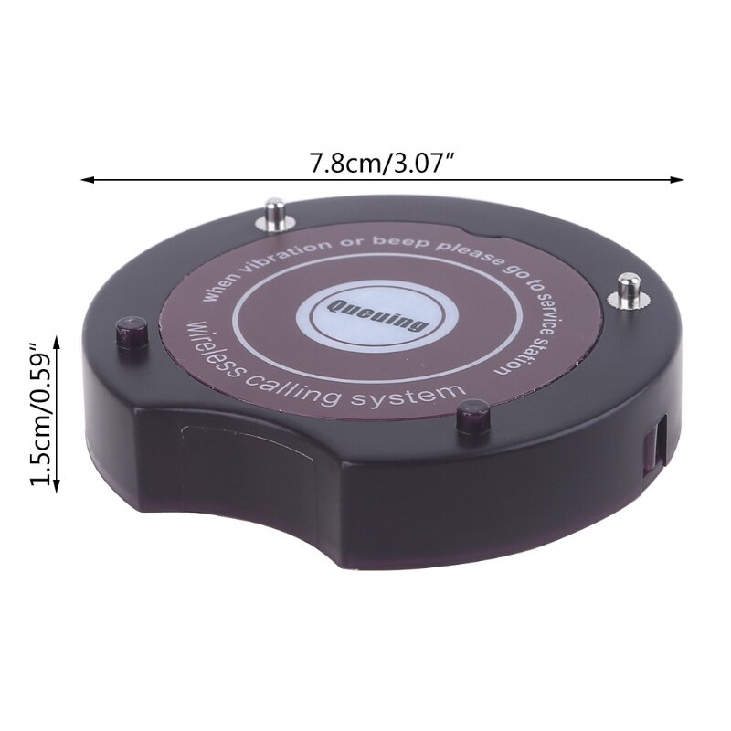 Restaurant Coffee Shop Coaster Pagers Wireless Calling System Pager Receivers Rechargeable Buzzers for SU-668 enlarge
