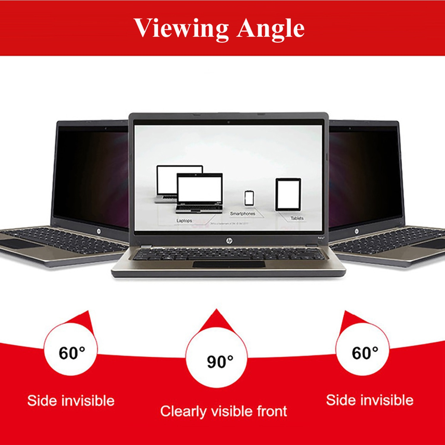 14 inch Laptop Privacy Filter Screen Protector Film for Computer Monitor Widescreen 16:9 Aspect Ratio enlarge