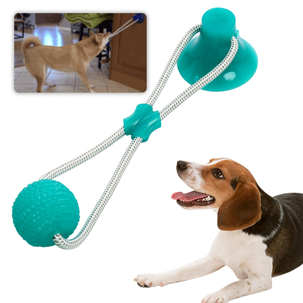 3 pçs multifunction pet molar mordida brinquedos do cão de borracha mastigar bola limpeza dentes elasticidade segura macio filhote cachorro ventosa cachorro brinquedo mordendo