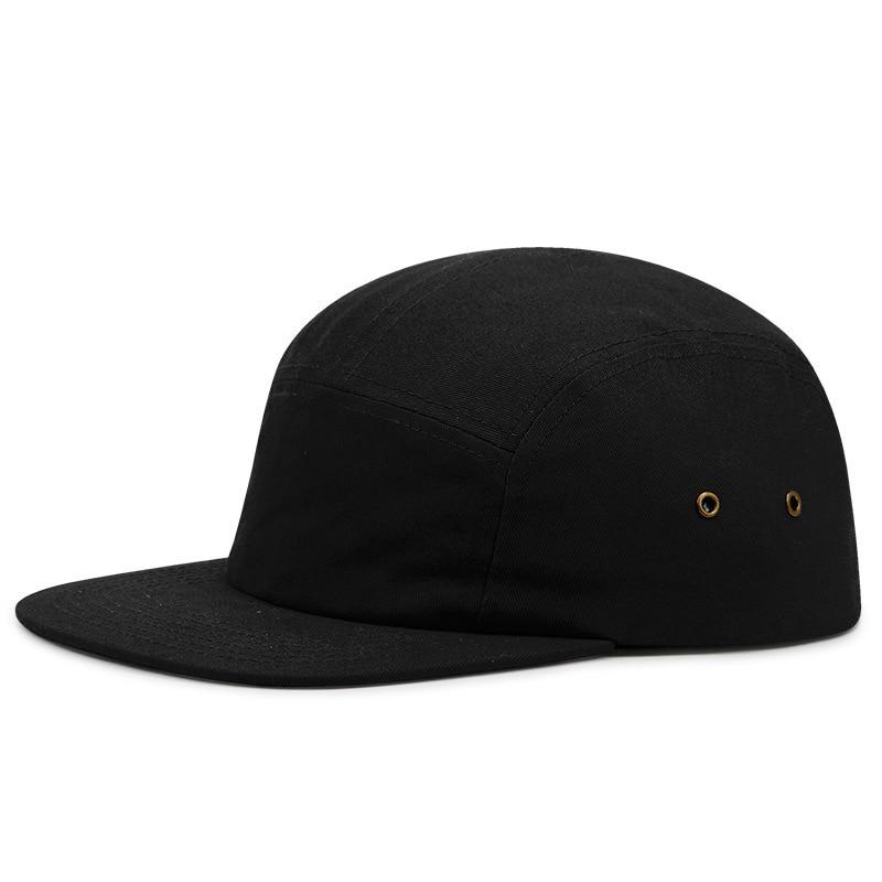 5 Panels Flat Brim Skateboard Cap Soft Cotton Bboy Hip-hop Hip-hop Hat Male Snapback Hats Man Plus Size Baseball Caps 56-68cm
