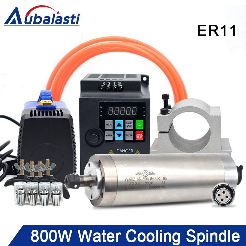 Refrigerado a Água do Jogo Bomba de Água 800w do Eixo de Refrigeração da Água Eixo Rolamentos & 1.5kw Inversor Vfd 75w 4 D65mm 0.8kw