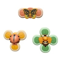 3pcs new baby bath spinning top toy insect hand spinner toys with suction cup spinner toys decompresssion toys gift for kids