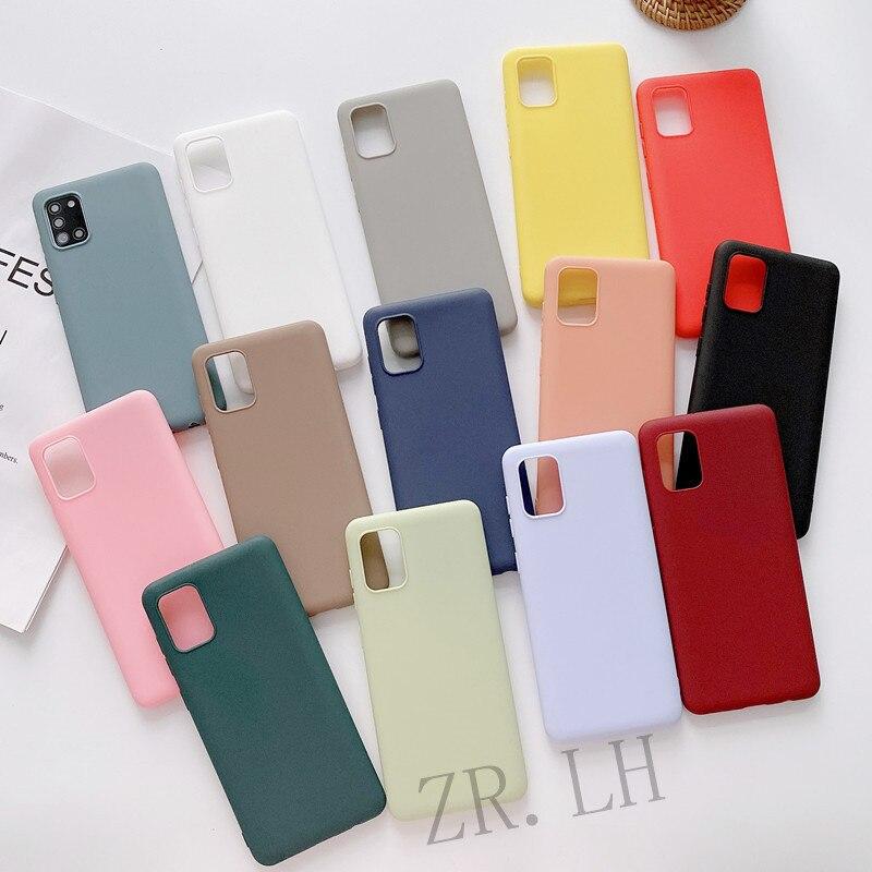 Силиконовый чехол для Samsung Galaxy S21Ultra, A32, A42, A52, A72, A50, A70, твердые Чехлы карамельных цветов, A71, A51, A20, M20, A7 2018, S20 Plus, S20FE