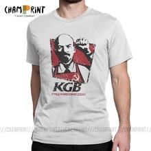 KGB Vladimir lénine hommes T-Shirts urss russie communisme marxisme socialisme Vintage T-Shirts col rond 100% coton cadeau vêtements