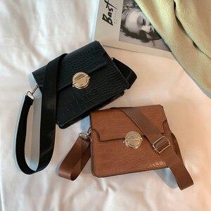 Solid Flip Ladies Shoulder Travel Handbags Small Crossbody Purse Retro Women Messenger Purse PU Stone Leather Tote