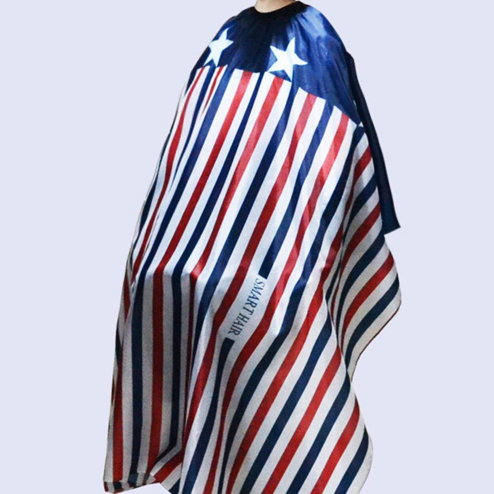 Adultos Anti-estática raya estrella carta de impresión de corte de pelo vestido de salón de casa capa delantal impermeable de tela de salón de corte de pelo capa de tela