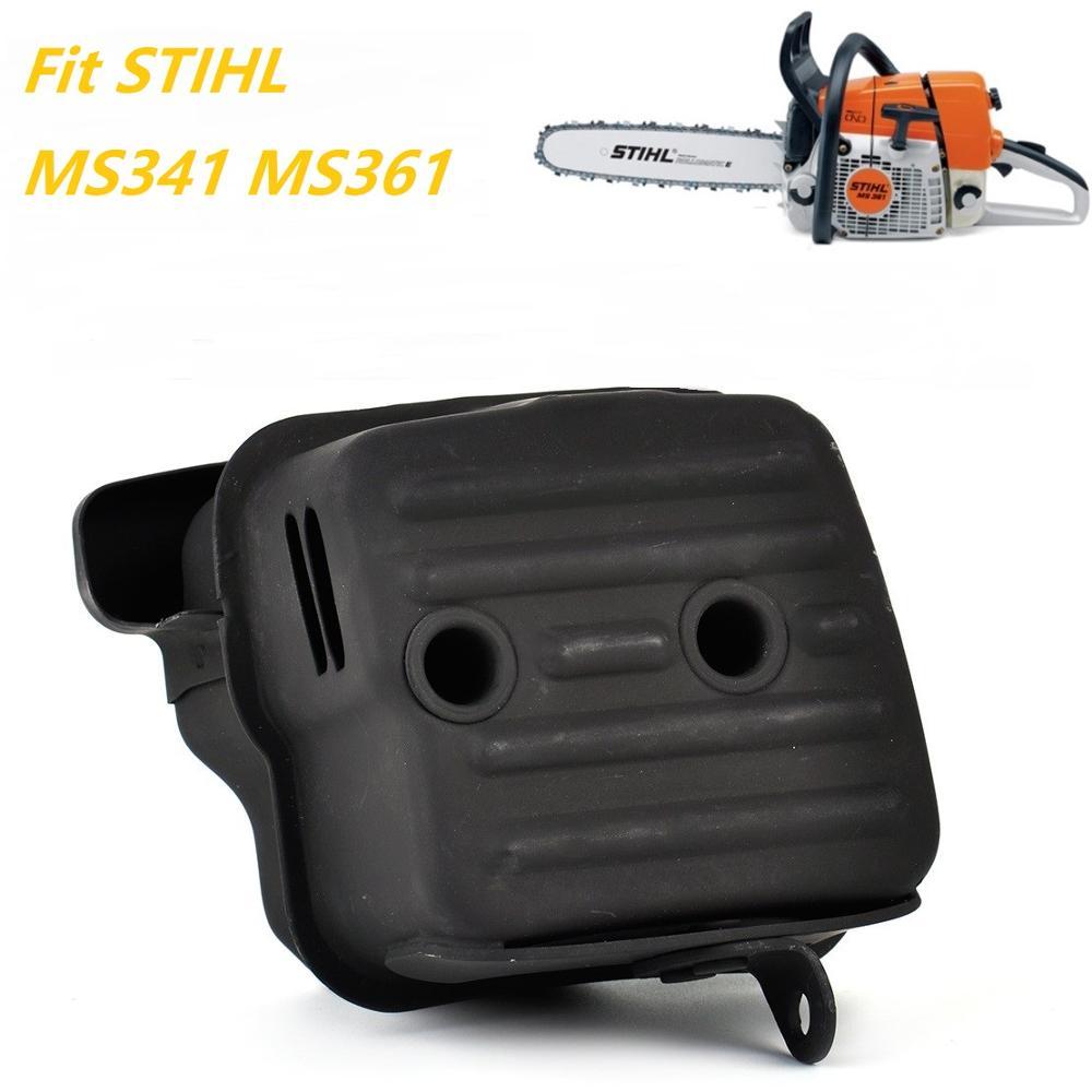 Silenciador substituição apto para stihl ms341 ms361 motosserra peças de reposição kit escape aftermarket 1135 140 0650