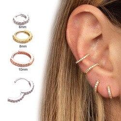 Nariz piercing jóias do corpo nariz aro nariz nariz nariz anel minúsculo strass clicker helix cartilagem tragus anel dobradiça de aço segmento