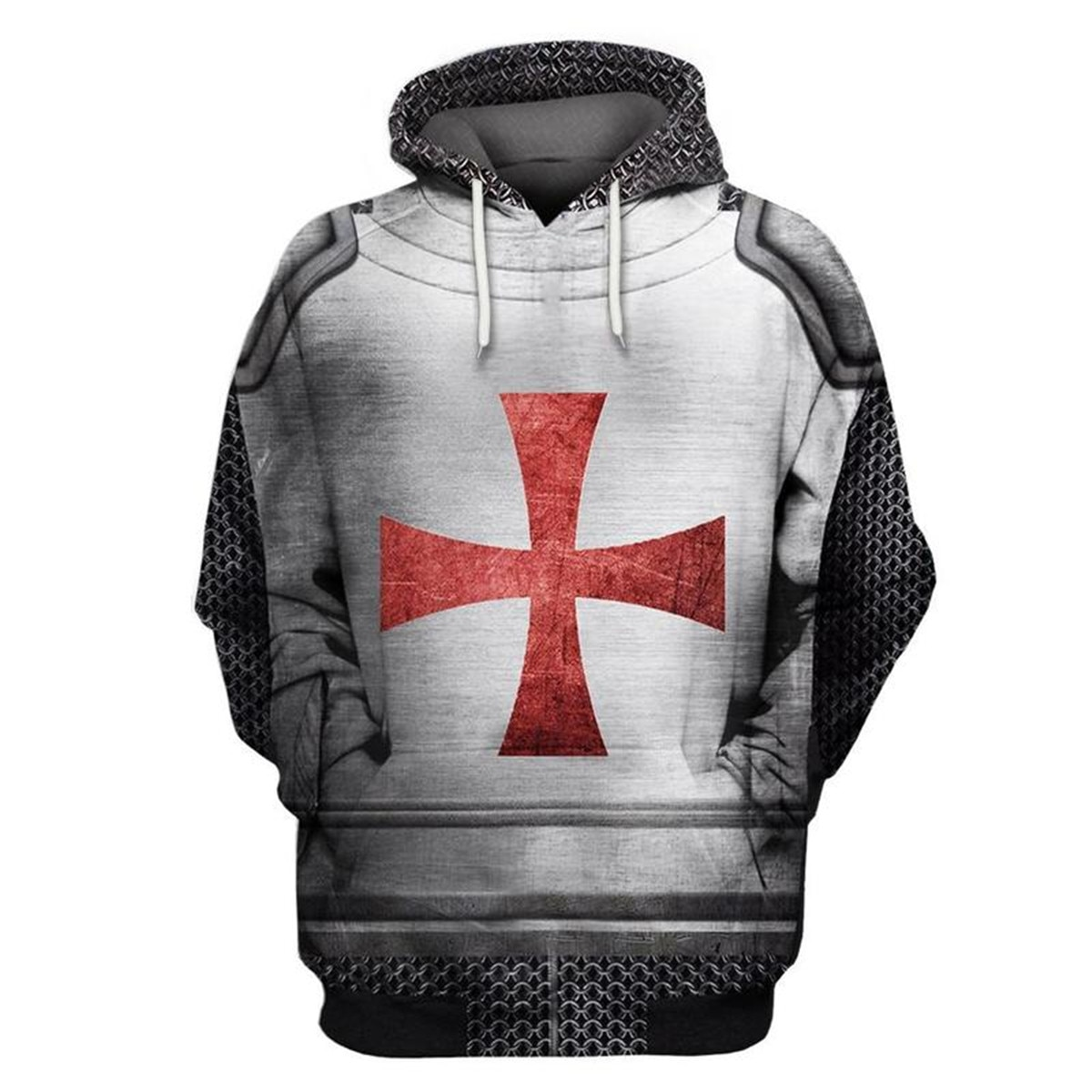 Knights Templar Hoodies For Men 3D All Over Printed Fashion Spring/Autumn Casual Unisex Pullover Hooded Harajuku Streetwear