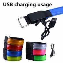 USB Перезаряжаемые/Батарея Спорт на открытом воздухе Фитнес Браслеты ночное Беговая наручная повязка светодиодный светильник Безопасность ...