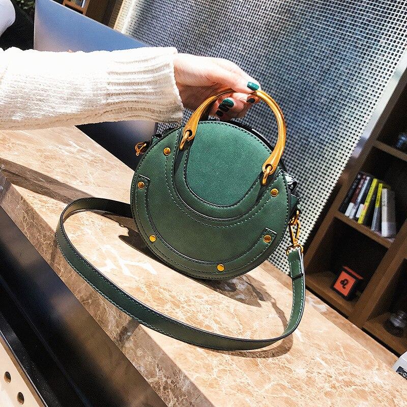 2020 Fashion Women's Wallets Bag Mini PU Leather Round Handbag Vintage Luxury Handbags Women Bags Designer Famous Brands Bolsos