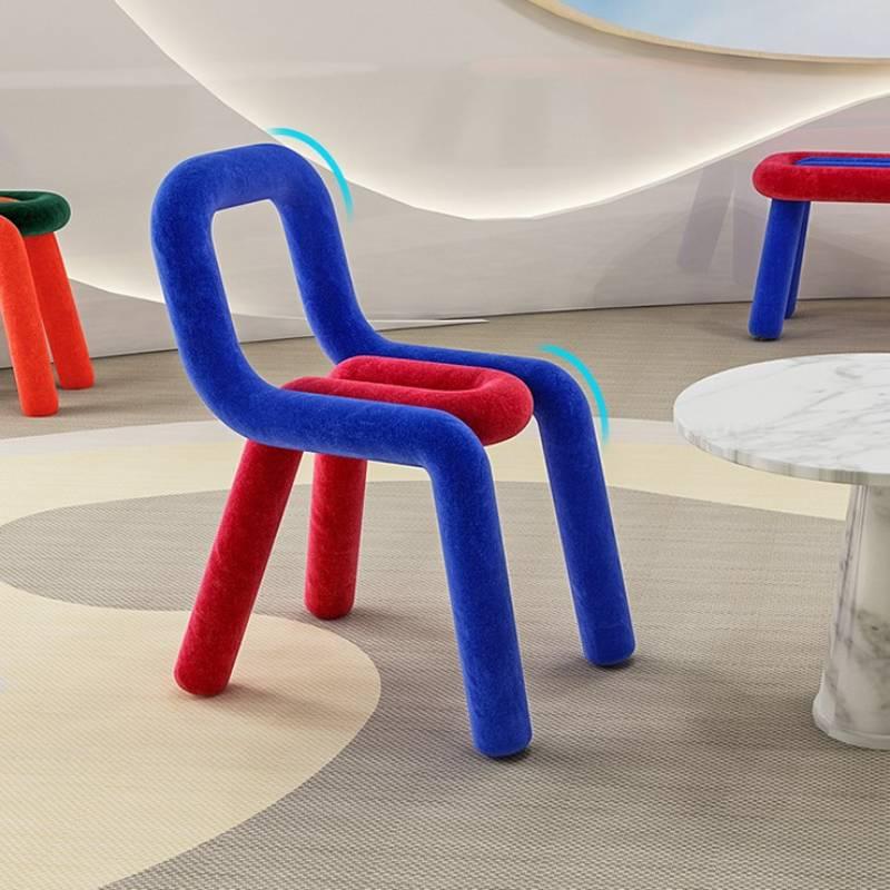Стулья гостиная детская мебель простой необычной формы стул в скандинавском стиле креативные Современные знаменитости одноместные цветны...