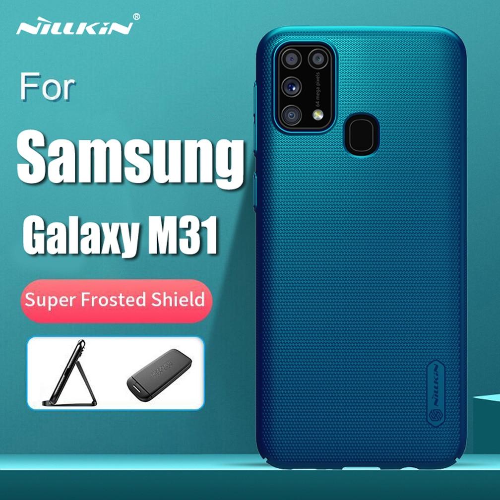 Para Samsung Galaxy M31 funda Nillkin Super Frosted Shield mate PC duro Protector de la contraportada Anti-huella digital teléfono caso