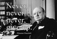 inspirational winston churchill quote never give up vintage retro vintage tin sign metal sign 8x12 inches