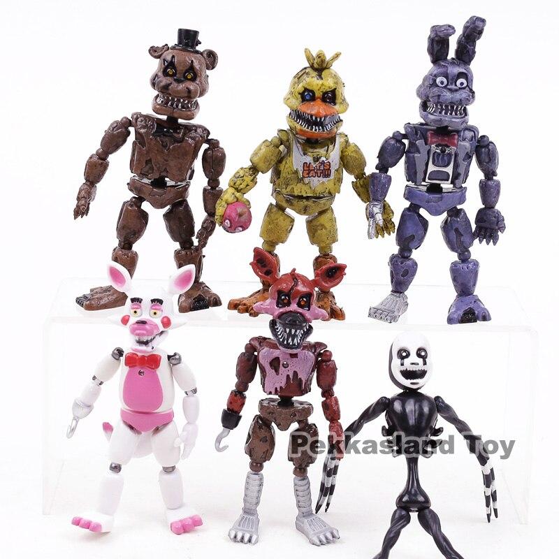 Freddy Bonnie Foxy Chica – jouets figurines d'action en PVC 6 pièces/ensemble