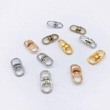 20 pièces métal crochet pivotant fermoir 19mm sac pendentif porte-clés composant Kc or/Bronze/argent couleur connecteur pour bijoux à bricoler soi-même faire