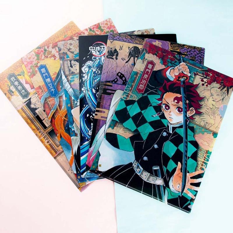 Anime demonio asesino Kimetsu No Yaiba retratar tarjetas fotográficas Kamado Tanjirou Cosplay de A4 archivador bolsa
