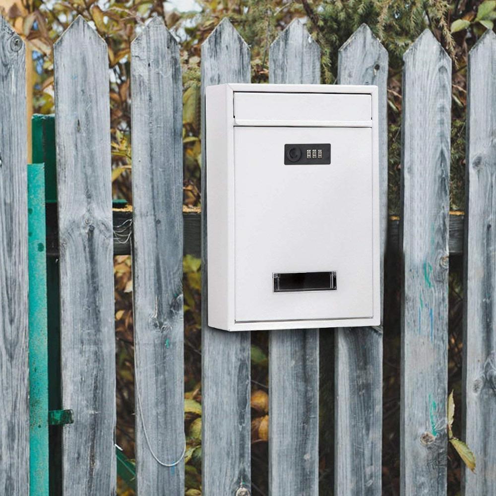 12 بوصة العقلية مشفرة قفل خمر قطرة صندوق بريد معلق على الحائط قفل صندوق البريد صندوق البريد مع مفاتيح صحيفة صندوق
