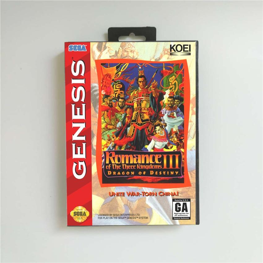 Romance de los tres reinos III Dragon of Destiny-cubierta de EE. UU....