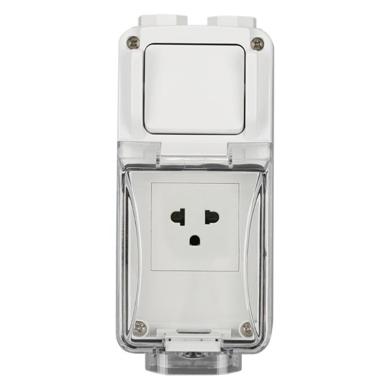 مقبس حائط كهربائي مقاوم للماء ، خارجي ، الولايات المتحدة/المملكة المتحدة