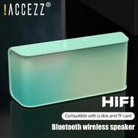 accezz bluetooth speaker portable outdoor loudspeaker mini column 3d stereo music surround support usb u disk tf card bass box