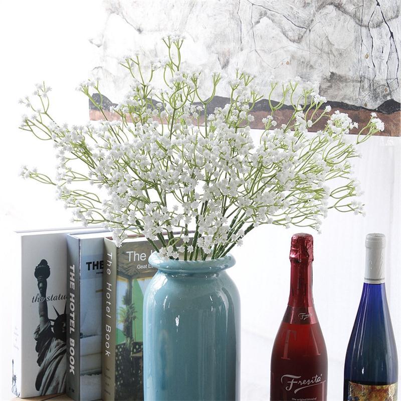 1 шт., белые цветы для младенцев, искусственные Гипсофилы, сделай сам, Цветочные букеты, свадебное украшение для дома
