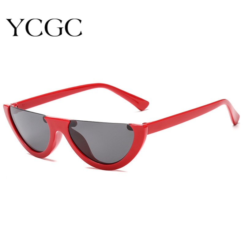 Semi-Rimless Vintage Men Sun Glasses 2020 Unique Women Party Sunglasses Brand Designer Punk Sexy Can