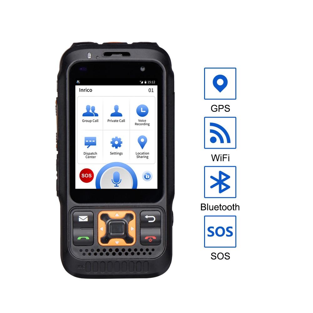 Inrico S100 cordless telephones Zello 4G Network Radio Poc IP68 touch screen GPS Bluetooth SOS Mobile Phone Walkie Talkie 100 km