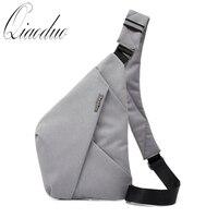 Qiaoduo Men's chest bag crossbody bag multifunctional casual shoulder bag anti theft security strap digital storage travel Bags