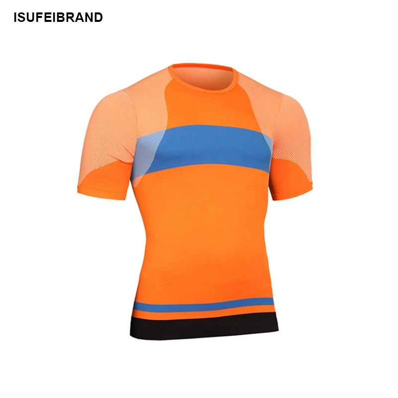 RTS16 Мужская новейшая Спортивная футболка для фитнеса с коротким рукавом для бега, быстросохнущая облегающая футболка для бодибилдинга, тре...