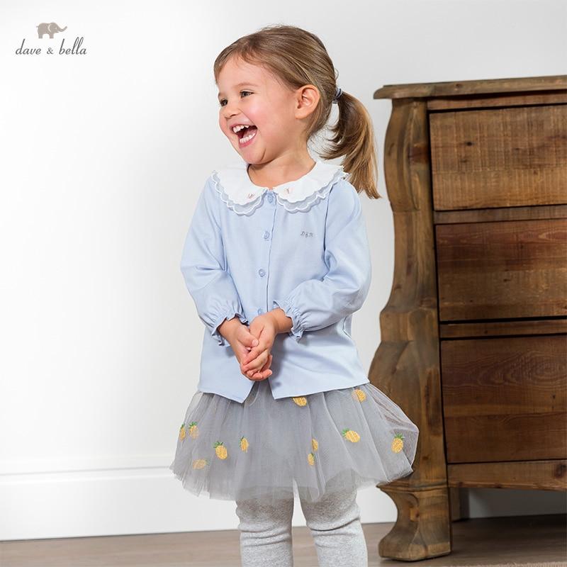 DBZ16454 1 нижнее белье в стиле бренда dave bella/Весенняя мода; Платья с вышивкой для маленьких девочек, футболки с надписями для малышей; Топы для детей ясельного возраста; Детская одежда высокого качества|Блузки и рубашки| | АлиЭкспресс