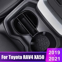 for toyota rav4 2019 2020 2021 rav 4 xa50 car front row water cup holder storage box card phone container interior accessories