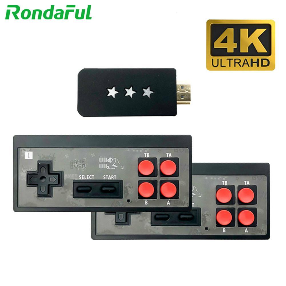 Miniconsola de videojuegos Retro 2 en 1, 4K, mando inalámbrico portátil, 568...