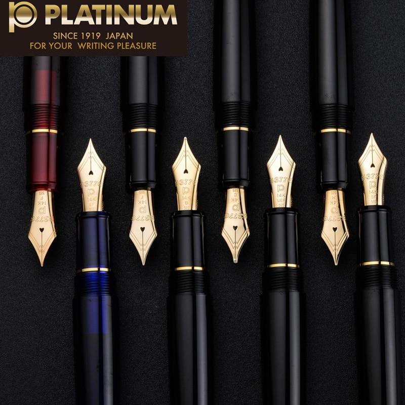 Japan Original platinum  3776 century PNB-10000 13000 14k gold fountain pen business office classic Transparent pen   soft nib