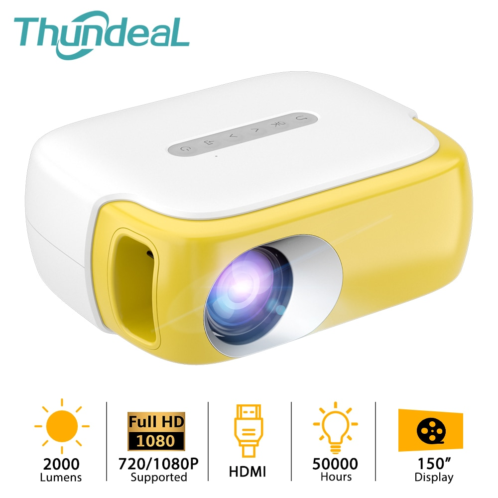 ThundeaL-miniproyector portátil TD860, 2000 lúmenes, 1080P, para cine en casa, regalo para...