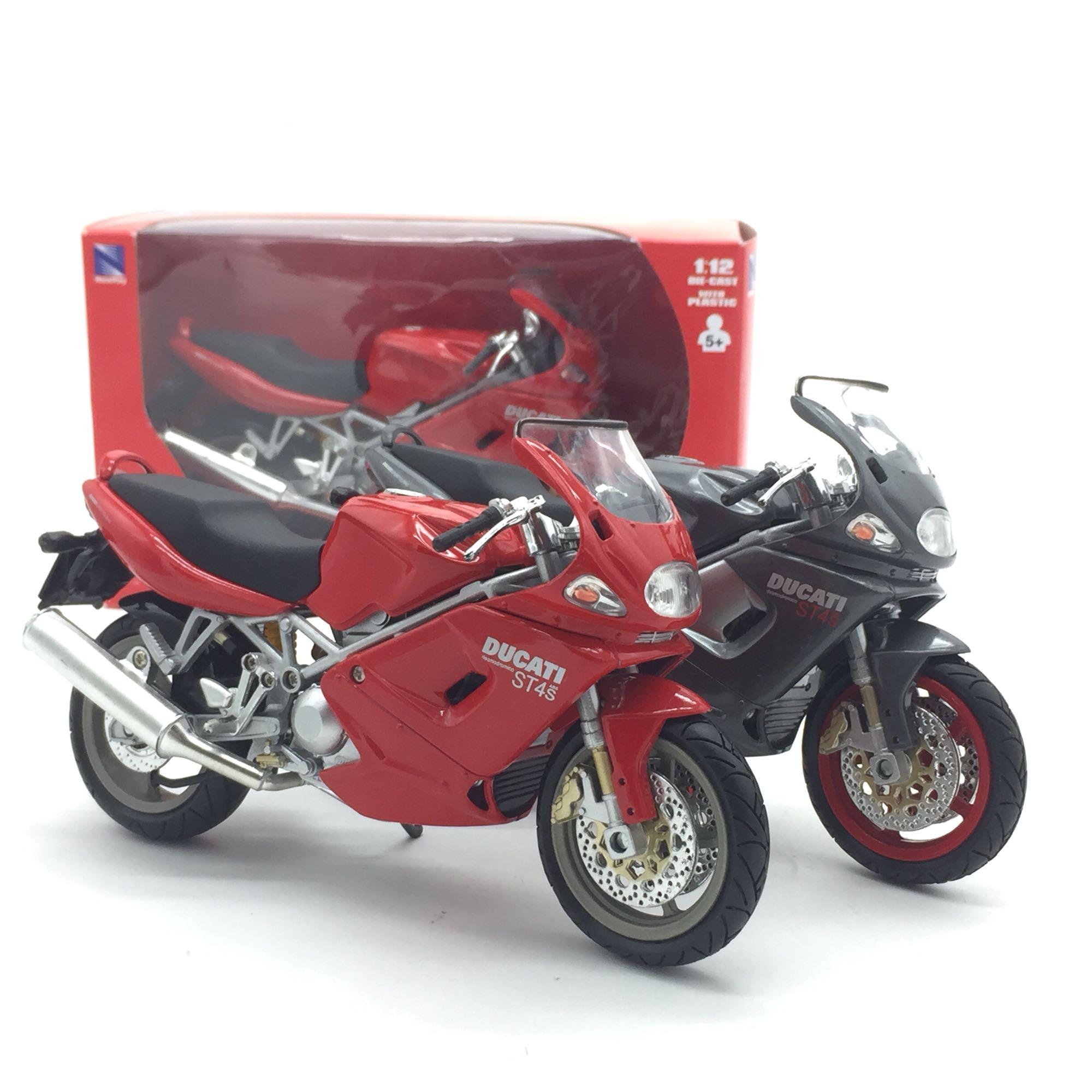NEWRAY, modelo de motocicleta a escala 1/12, juguete DUCATI ST4S, modelo de motocicleta metálica fundido a presión, juguete para regalo, niños, colección