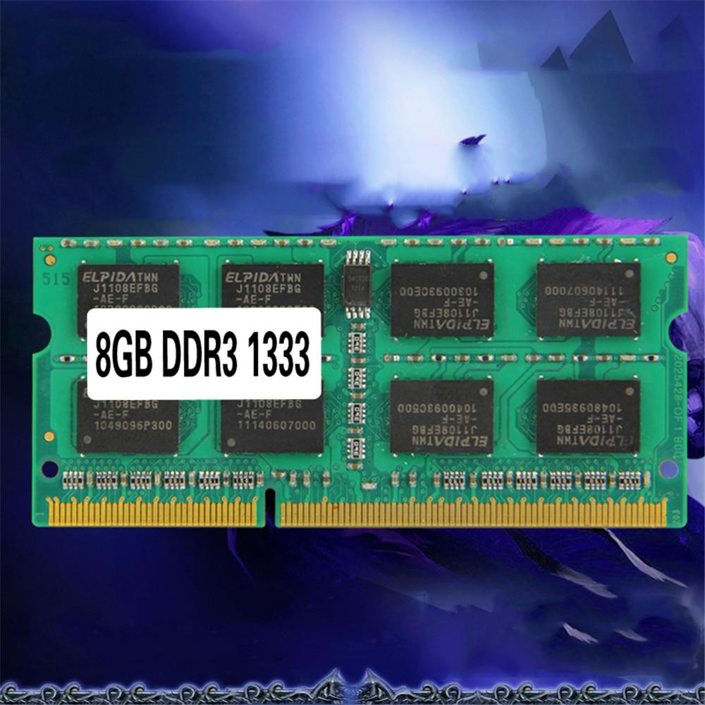 Laptop Memory Ram SO-DIMM PC3-10600 DDR3 1333MHz 204PIN 2GB/4GB/8GB DDR DDR3 PC3-10600 1333MHz 204PIN Memory Module For Notebook