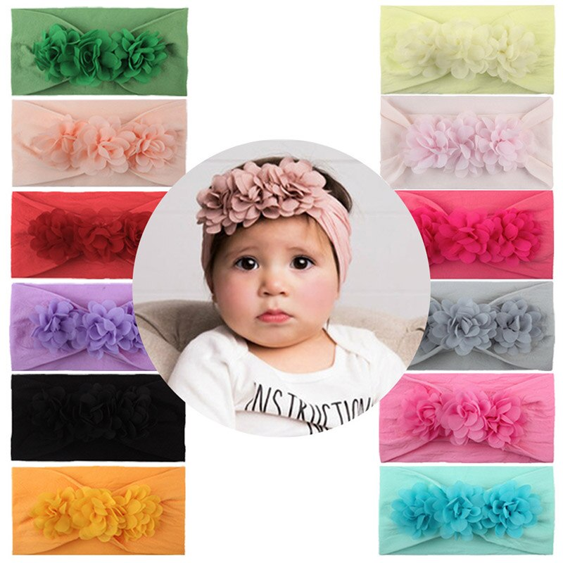 1 Uds Color sólido cinta de pelo de bebé, niño niña regalo, estilo europeo lindo gorros para bebé bonito regalo para Niña Accesorios para el cabello