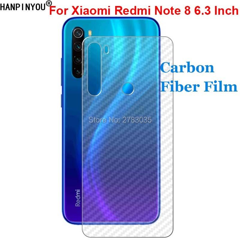 "For Xiaomi Redmi Note 8 6.3"" Durable 3D Anti-fingerprint Carbon Fiber Back Film Screen Protector (Not Tempered Glass)"