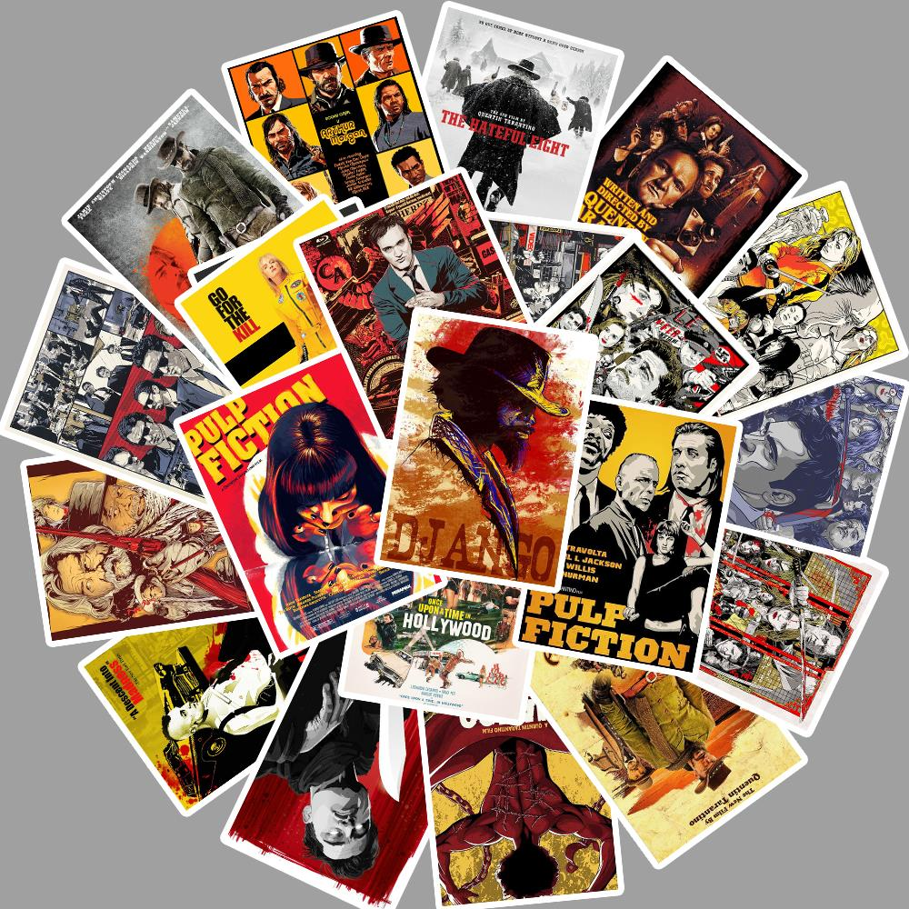 24pcs-quentin-tarantino-movie-pulp-fiction-kill-bill-stickers-for-diy-laptop-luggage-refrigerator-decor-waterproof-toy-sticker
