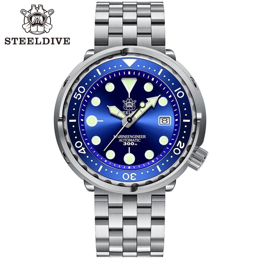 STEELDIVE SD1975-ساعة يد رجالية ، ميكانيكية ، مقاومة للماء حتى 300 متر ، ساعة مضيئة ، مرآة الياقوت ، غوص أوتوماتيكي ، ذكر