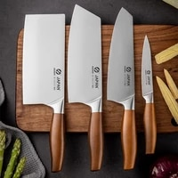 3cr13 stainless steel kitchen knife non stick kitchen chef knives nakiri santoku paring knife cooking tool with gife box