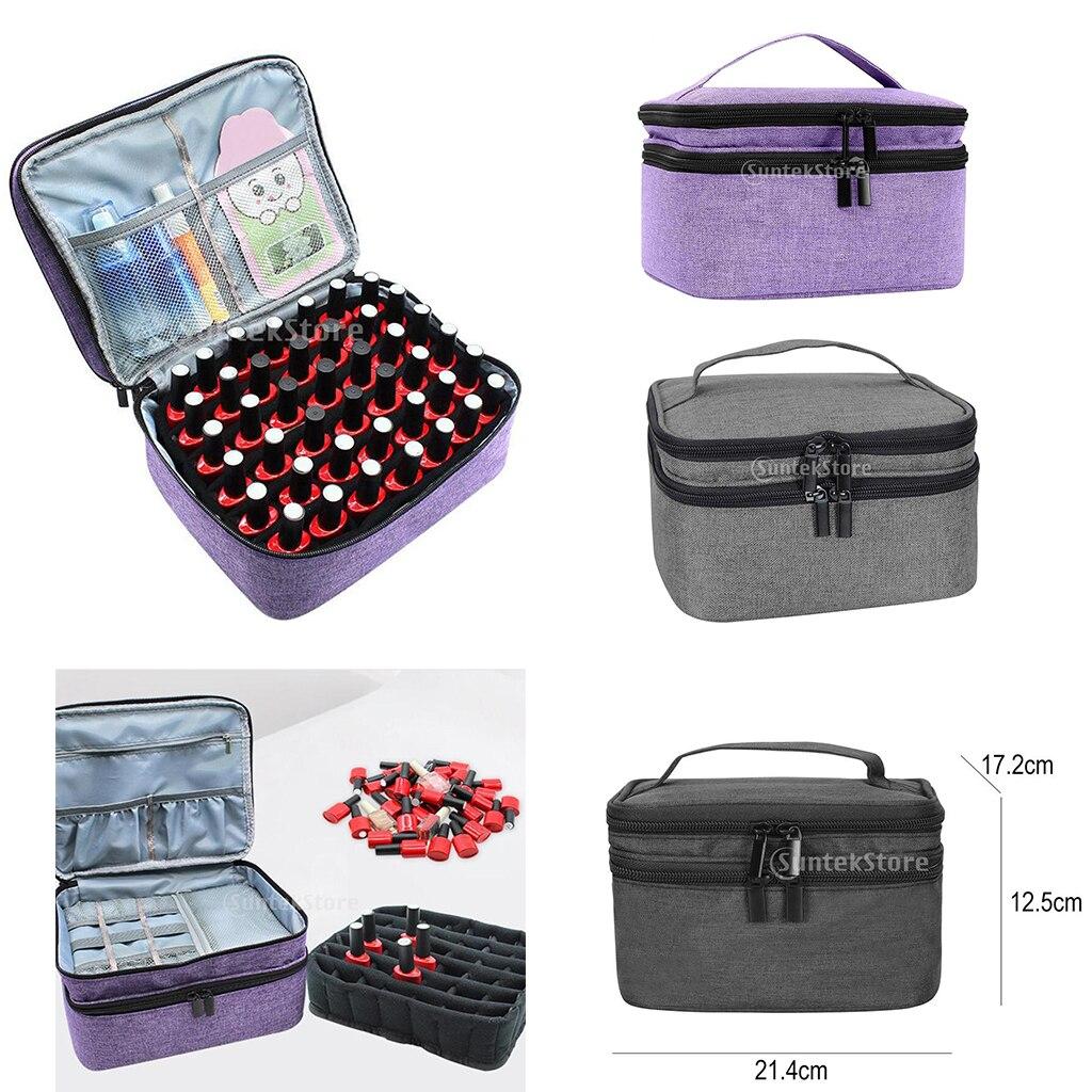 Essential Oil Carrying Case Nail Polish Holder Storage Bag Box Portable Travel Organizer for 30 Bottles 5ml 10ml 15ml