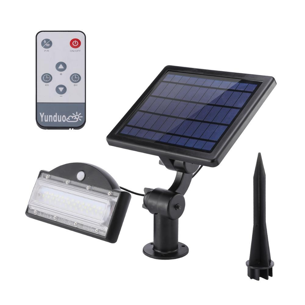 Solar Garden Led Lights Outdoor Waterproof Lamps Low Voltage LED Garden Spot Light Motion Sensor Solar Flood Lamp Lawn Lighting enlarge