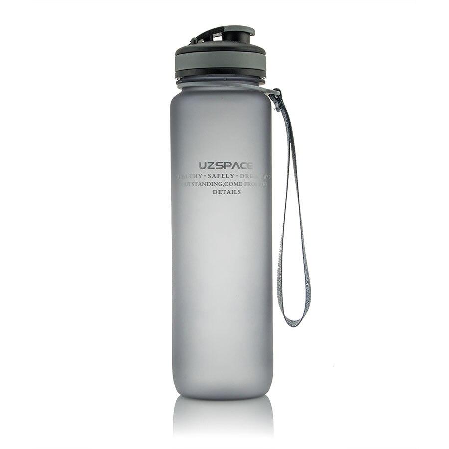 زجاجة ماء بلاستيكية 1000 مللي سعة عالية زجاجات رياضة الصالة الرياضية زجاجة ماء بلاستيكية للمياه Botella دي Agua درينكوير 50U024
