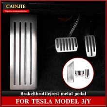 2021 Model 3 Car Foot Pedal Pads Covers For Tesla Model Y Accessories Aluminum Alloy Accelerator Bra