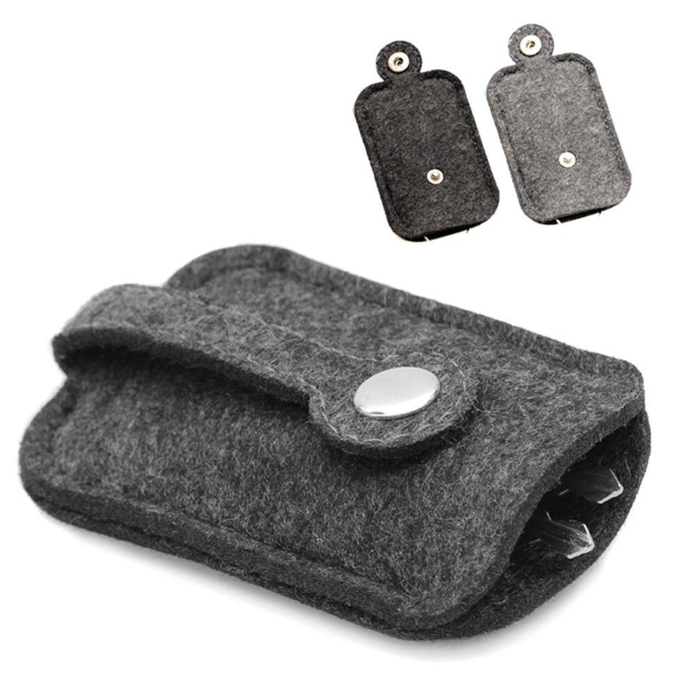 Luxury Car Key Wallet Purse Men Women Woolen Felt Keychain Holder Pocket Keys Organizer Pouch Case B