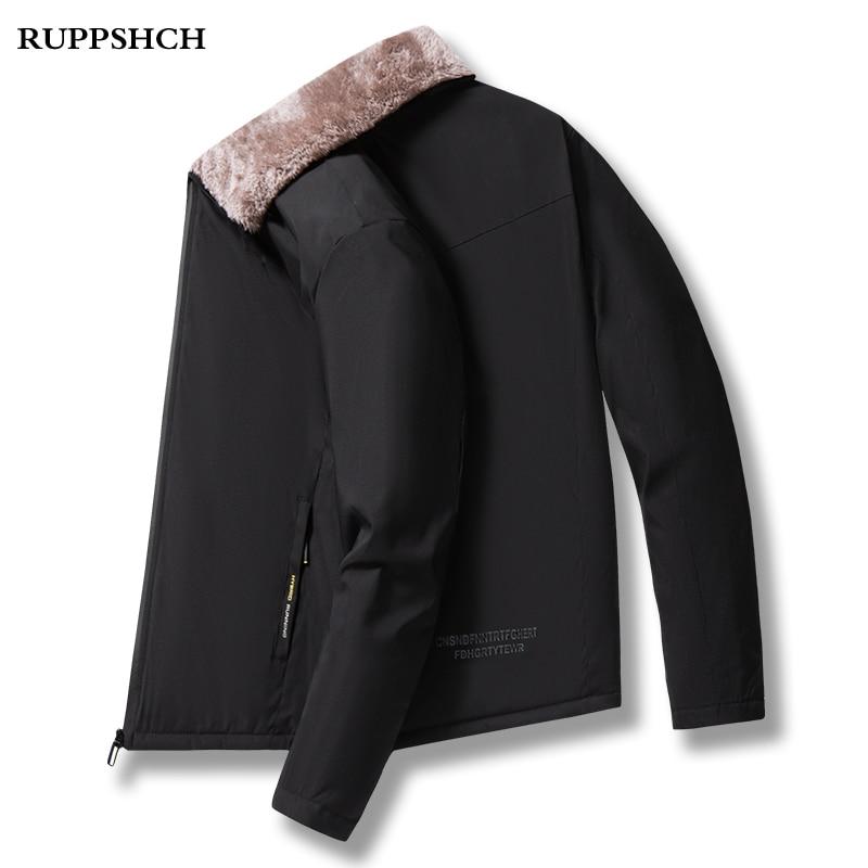 Осень-зима 2021, флисовые куртки, мужские деловые повседневные высококачественные мужские куртки с воротником-стойкой для мужчин среднего и ...